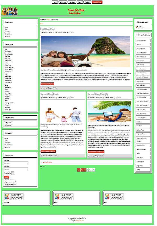 Free templates for joomla 3 8 3 3 2 5 for Free joomla templates